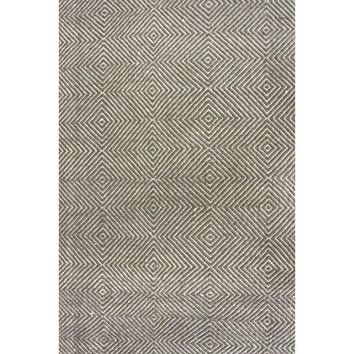 Gray 6' x 9' Flat Woven Hand Made Wool/Cotton Gray Area Rug