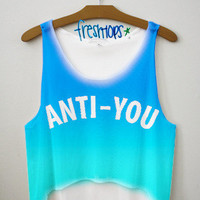 Anti You crop top | fresh-tops.com