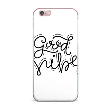 "Busy Bree ""Good Vibes"" Black White iPhone Case"