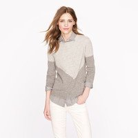 Collection cashmere button-back sweater in chevron - Pullover - Women's sweaters - J.Crew