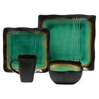 Baum Bros. Galaxy Jade 16 Piece Dinnerware Set