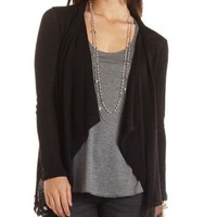 Lace Trim Cascade Cardigan by Charlotte Russe