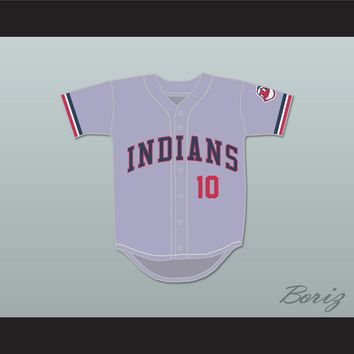 Eddie Harris 10 Gray Baseball Jersey Major League