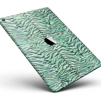 "Green Watercolor Tiger Pattern Full Body Skin for the iPad Pro (12.9"" or 9.7"" available)"