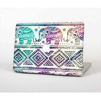 "The Tie-Dyed Aztec Elephant Pattern Skin Set for the Apple MacBook Pro 15"" with Retina Display"