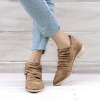 Sky Valley Booties in Sand