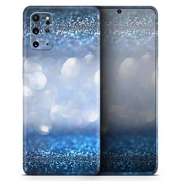 Royal Blue and Silver Glowing Orbs of Light - Skin-Kit for the Samsung Galaxy S-Series S20, S20 Plus, S20 Ultra , S10 & others (All Galaxy Devices Available)