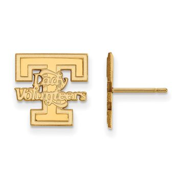 NCAA 10k Yellow Gold University of Tennessee Small Post Earrings