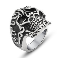 Shiny Jewelry New Arrival Stylish Gift Vintage Skull Strong Character Fashion Titanium Accessory Ring [6544854211]