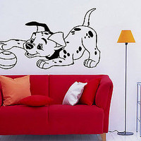 Wall Decor Vinyl Decal Sticker Mural Funny Dalmatian with ball baby room S1286