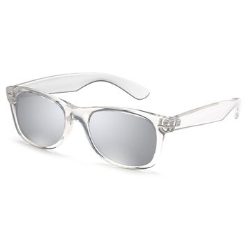 Gamma Ray Polarized UV400 Classic Style Sunglasses with Mirror Lens - Choose From Adult or Kids Sizes