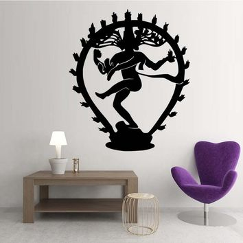 Shiva Hindu God Vinyl Decal Wall Art Sticker
