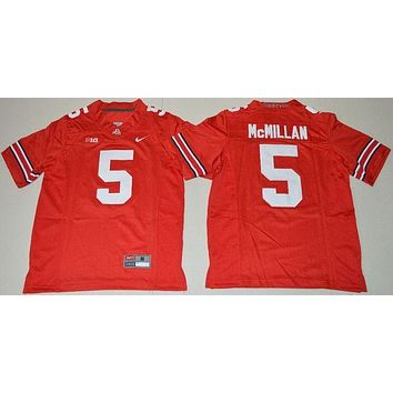 CREYO2N Nike Youth Ohio State Buckeyes Raekwon McMillan 5 College Ice Hockey Jerseys - Red Size S,M,L,XL