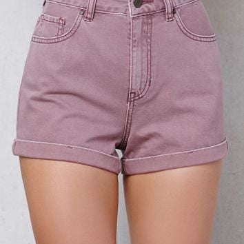 PacSun Shortcake Cuffed Denim Mom Shorts at PacSun.com