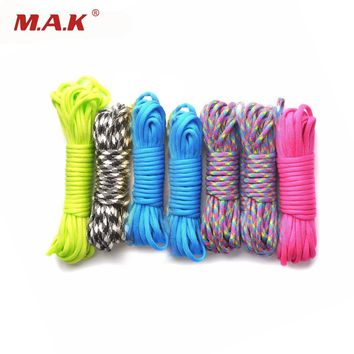 Paracord 550 Parachute Cord Lanyard Rope 25/50/100ft  Mil Spec Type III 7 Stand Survival Rope for Outdoor Climbing Camp