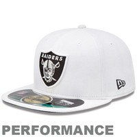 New Era Oakland Raiders 2013 On-Field Player Sideline Performance 59FIFTY Fitted Hat - White