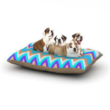 "Nika Martinez ""Girly Surf Chevron"" Dog Bed"