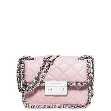 Carine Medium Quilted-Leather Shoulder Bag | Michael Kors