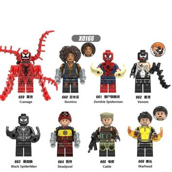 Deadpool Dead pool Taco For legoing FigureS Black Spiderman Iron Man Doctor Strange Venom Cable Warhead  Model Building Blocks Kits Brick Toys AT_70_6