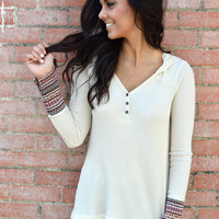 Fireside Thermal Top- Ivory