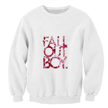 Fall Out Boy Florist sweater White Sweatshirt Crewneck Men or Women for Unisex Size with variant colour