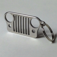 Jeep Wrangler Grill Stainless Steel Keychain - Free Shipping