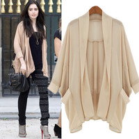 A 082013 New York Fashion chiffon cardigan jacket