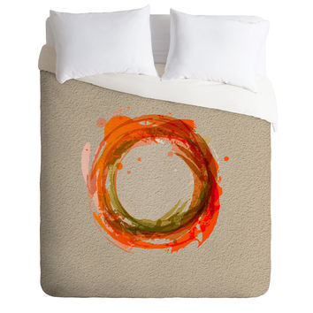 Viviana Gonzalez Abstract Circle 2 Duvet Cover