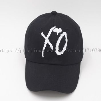 XO Custom Unstructured Black Dad Hat Cap SNAPBACK Baseball Abel New