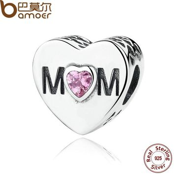 Original 925 Sterling Silver Heart Shape Love Beads Fit  Charms or Bracelet.  Great Valentine or Mother's Day Gift