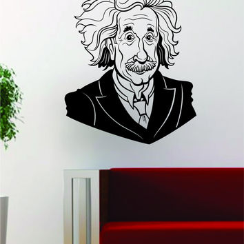 Albert Einstein Science Scientist Decal Sticker Wall Vinyl Art Home Room Decor
