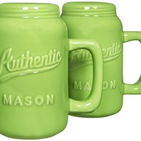 Home Essentials & Beyond 73717 Authentic Mason Salt & Pepper Shaker, Green