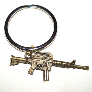 Gun Charm Keychain Your choice of AK 47, 45 Colt Pistol, 50cal Rifle, Scar, or AR15