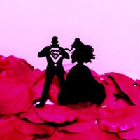 Superman and Princess Belle Cake Topper