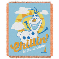 Disney's Frozen Chillin  Triple Woven Jacquard Throw (48x60)