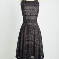 Long Sleeveless A-line Moon Reverie Dress by ModCloth