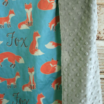 Personalized Fox Baby Blanket - Exclusive Design