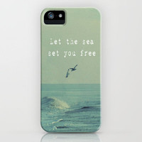 Let The Sea Set You Free iPhone Case by Ally Coxon | Society6
