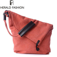 Canvas Crossbody Women Bag Designer Button Shoulder Bags Large Capacity Weekender Messenger Bags Tote Herald Fashion