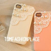 Pearl Lace iphone 5 case iphone 4 case iphone 4s case iphone 5 cases iphone 5 covers