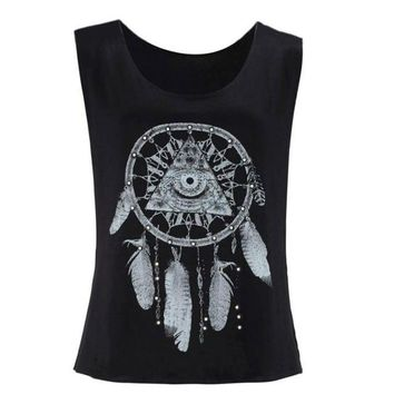 Feather Vest Loose Tank Top Black Summer Top Hollow Halter Womans Tanks Tops Lingerie Tubes Chalecos#121