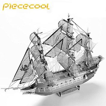 Piececool The Flying Dutchman 3D Laser Cutting DIY Metallic Boat Model 3D Metal Puzzle Educational Diy Jigsaws Gifts