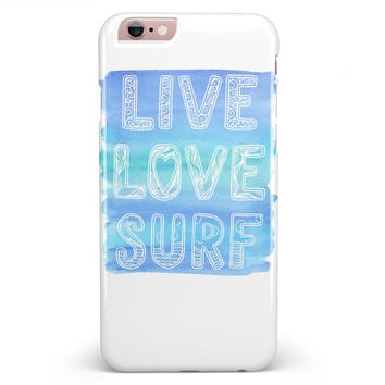 Live Love Surf iPhone 6/6s or 6/6s Plus INK-Fuzed Case