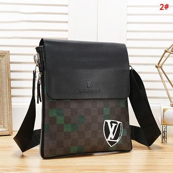 Louis Vuitton LV Fashion New Print Women Men Leisure Shoulder Bag Briefcase 2#
