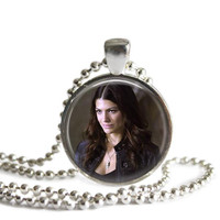 Ruby Silver Plated Pendant Necklace Handmade Supernatural Jewelry