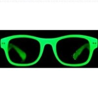 GLOW IN DARK WAYFARER SUN-GLASSES, COLORS MAY VARY, RED, PINK, ORANGE, GREEN, BLUE,