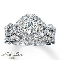 Neil Lane Bridal Set 2 ct tw Diamonds 14K White Gold