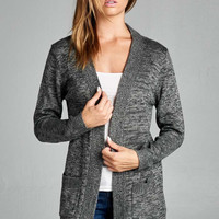 Coffee Shop Cardigan - Charcoal