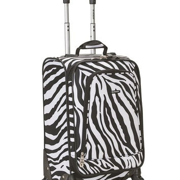 "F181-ZEBRA 20"" Spinner Carry On  Luggage Set"