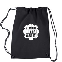 Straight Outta Vault 111 Drawstring Backpack